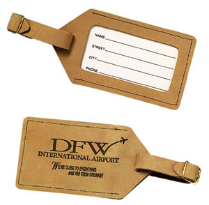 BUFF LEATHER LUGGAGE TAGS