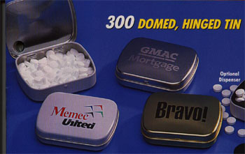 BREATH MINTS, DOMED HINGED TIN